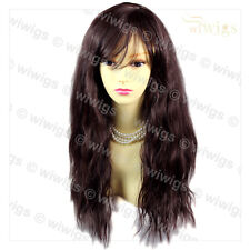 Wiwigs Supermodel Untamed Wild Long Wavy Black Brown & Auburn Ladies Wig