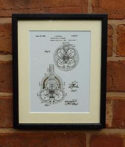 USA Patent Drawing  DOPERA RESONATOR STEEL GUITAR MOUNTED PRINT 1926 Xmas Gift