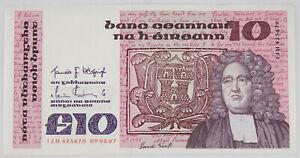Ireland Republic 1987 10 Pound Currency Banknote Pick #72b Crisp XF/AU
