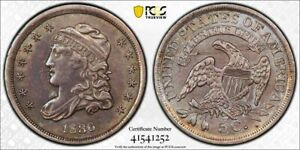 1836 Large 5 U.S. Capped Bust Half Dime PCGS XF Details Lot#A803 Silver!