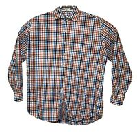 Peter Millar Mens Multicolor Plaid Long Sleeve Button Down Shirt Size XL