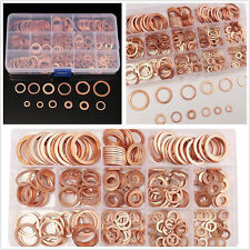 280 Pcs 12 Size Assorted Copper Car Off-Road Crush Washers Seal Flat Ring Gasket