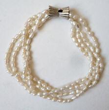 Bracelet à 3 rangs de perles d'eau douce baroque bijou