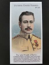 No.103 PRIVATE J. BARRY Victoria Cross Heroes 101-125 REPRO Taddy 1904