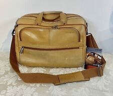 Samsonite Genuine Leather Briefcase, Tan Leather Laptop Bag
