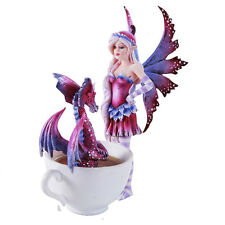Amy Brown Get Out Of My Hot Tub Dragon Tea Cup Faery Statue 2016 Collection
