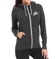 Nike Women's Vintage Zip Up Hoodie Size XS 813872 010 Grey NEW
