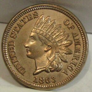 1863 Indian Head Cent - High (BU) Grade - See Pics.