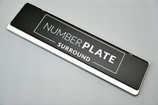 1 x Premium Chrome Stainless Steel Number Plate Holder for any Lamborghini