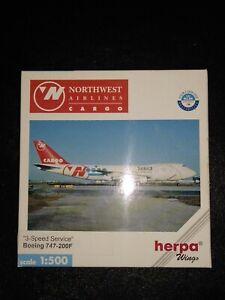 Herpa N° 512398 ◊ Boeing 747-200F ◊ Nothwest Airlines Cargo ◊ 1/500 IN Box /
