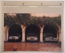 LINCOLN CONTINENTAL TOWN CAR & MARK VII orig 1984 USA Mkt Sales Brochure