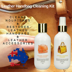 Leather Cleaner & Leather Conditioner CLEANING KIT FOR LEATHER HANDBAGS