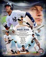 "DEREK JETER Career STATS ""Captain Clutch"" Yankees LICENSED 8x10 photo"