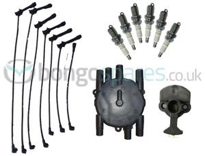 MAZDA BONGO ROTOR ARM, DISTRIBUTOR CAP, SPARK PLUGS & HT LEADS V6 PETROL (NEW)