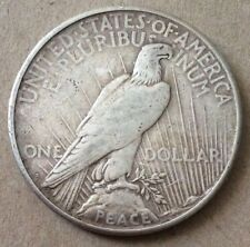 1923 One Dollar Peace US Silver Coin