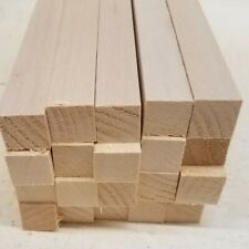 "3/4"" x 3/4"" x 10"" Basswood Craft Lumber Carving Wood Blocks *Kiln Dried*"