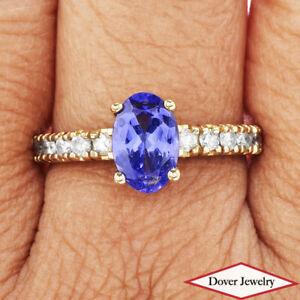Estate Diamond Tanzanite 14K Gold Beautiful Classic Ring NR