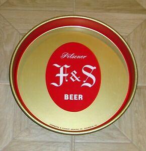 "*** FUHRMANN & SCHMIDT F&S PILSNER BEER 13"" BEER TRAY SHAMOKIN PA ***"