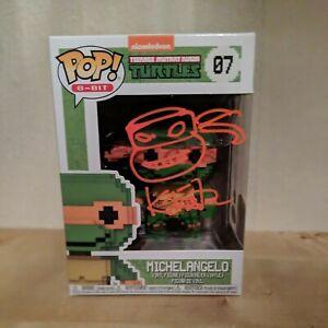 Funko Pop Michelangelo #07 Signed  by Kevin Eastman JSA authentic ltd 25 piece