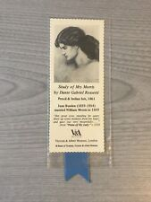 Vintage V&A Morris Rossetti Books Paper Bookmark Collection Book Page Marker