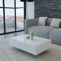 Table Basse Haute Brillance Blanc Table de Canapé Table de Salon Meuble