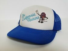 The California Raisins Blue White Adjustable Snapback Trucker Style Hat