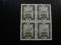 SARRE(allemagne) - timbre - yvert et tellier n° 286 x4 obl (A6) stamp germany