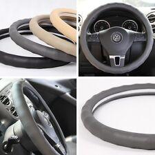 "NEW Grey PVC Leather CAR Steering Wheel Wrap Cover Lexus Mazda Jeep 14""-15"" 38cm"