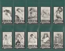 ACTRESSES - 100 SETS OF 25 - THE GLOBE CIGARETTE CO. ACTRESSES - FRENCH REPRINTS
