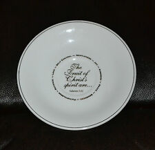 """Fine Porcelain China Plate """"The Fruit of Christ's Spirit are."""" *Free Shipping*"""