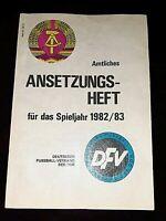 Orig. DFV Ansetzungsheft 1982/83 DDR Oberliga Magdeburg Dresden Jena BFC FCK FCM