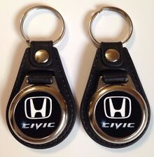 HONDA CIVIC KEYCHAIN FOB 2 PACK