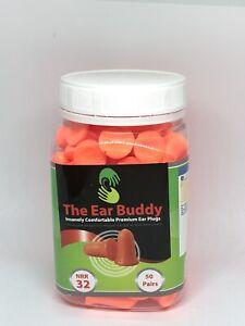 The Ear Buddy Premium Soft Foam Ear Plugs, Noise Cancelling Earplugs