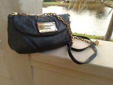 Marc Jacobs Classic Q Karlie Black Leatyer Crossbody Bag Clutch Shoulderbag