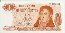 Argentina: 1 Peso Ley 18.188 UNC