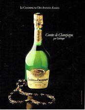 PUBLICITE ADVERTISING 0217  1981  champagne Comtes de Champagne par Taittinger