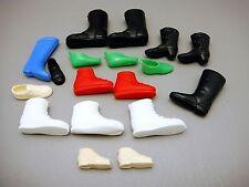 Lot of Vintage Doll & Action Figure Boots Shoes Plastic