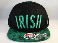 Notre Dame Irish NCAA Snapback Hat Cap Zephyr Bandit Black Green