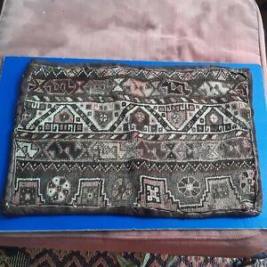 """Vintage Antique Large Kilim Rug Pillow 26"""" x 18"""""""