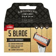 Coles 5 Blade Razor Cartridges 4 pack