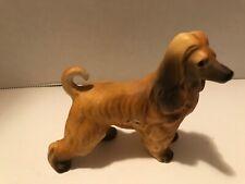 Vintage Afghan Hound Dog Porcelain Figurine Estate find unmarked
