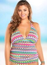 c1ae2a2f40a64 Bleu Rod Beattie Plus size In living color halter tankini top Size 20W