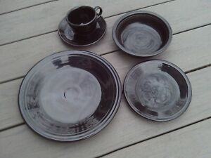 Fiesta Dinnerware 5-Piece Place Setting /Black) Homer Laughlin