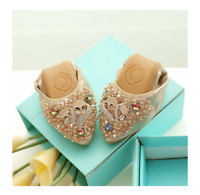 New folding and comfortable women's flat ballet shoess. golden color
