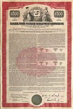 General Foods Overseas Development Corporation > 1967 $1,000 bond certificate