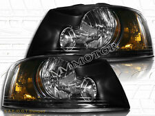 03 04 05 06 Ford Expedition Black Housing Headlights