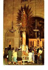Miracle Statue-Ste Anne De Beaupre-Famous Church-Quebec-Canada-Vintage Postcard