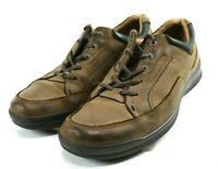 ECCO Men's $129 Casual Sneakers Shoes Size EU 46 US 12-12.5 Leather Brown