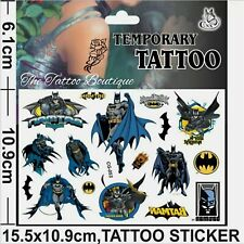 BATMAN Temporary Tattoos 🇬🇧Boys Party bag fillers Loot DC Comics Super Heros