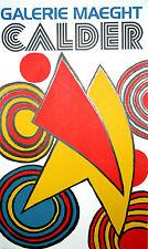 "Alexander Calder ""Triangles et Spirales"" 1973 Galerie Maeght Lithograph"